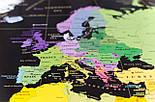 Черная скретч карта мира My Map Black Edition серебристый скретч-слой + Постер с флагами в подарок!, фото 5