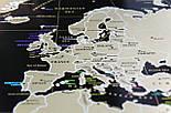 Черная скретч карта мира My Map Black Edition серебристый скретч-слой + Постер с флагами в подарок!, фото 6