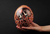 Эксклюзивная пысанка из страусиного яйца, ручная восковая роспись