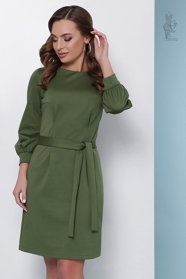 Цвет хаки Женского элегантного платья Тамара