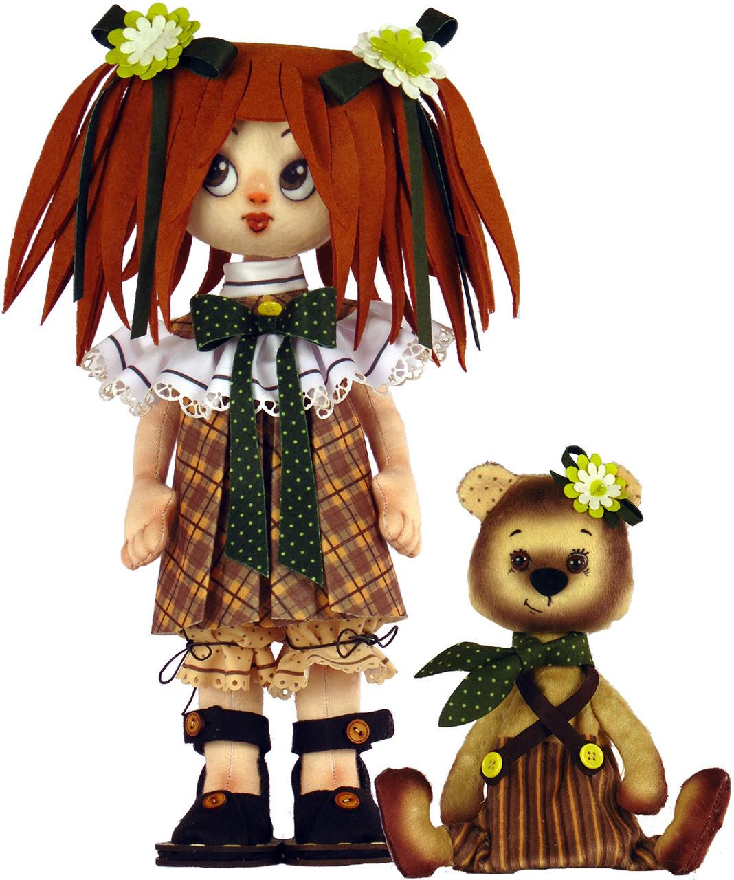 Набір для шиття Нова Слобода М'яка іграшка 45см Дівчинка з ведмедиком М1071