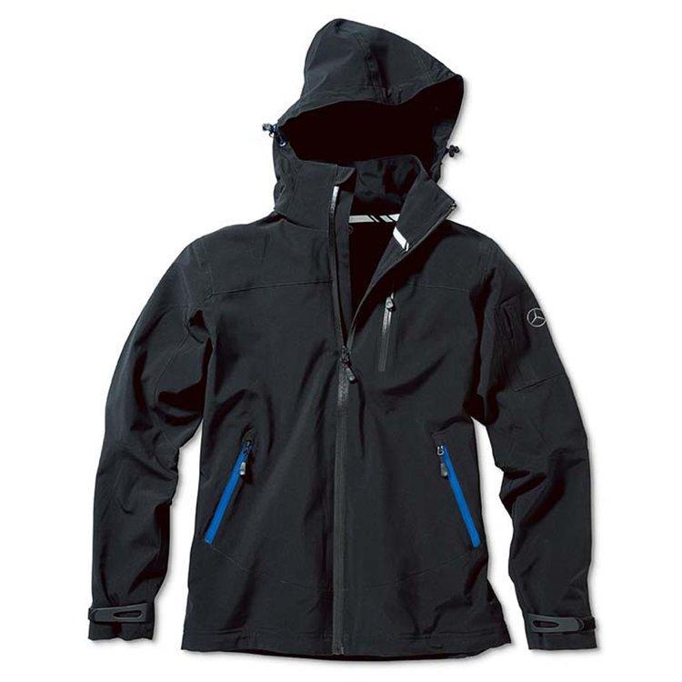 Чоловіча флісова куртка Mercedes Men's Softshell Jacket, Black-Blue Details (B66954793)