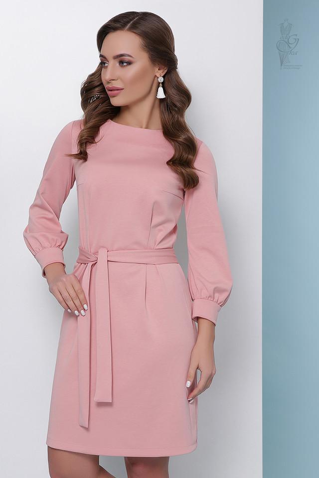 Цвет пудра Женского элегантного платья Тамара