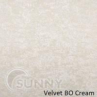 Рулонные шторы для окон в закрытой системе Sunny с плоскими направляющими - ПЛАСТИК, ткань Velvet BO