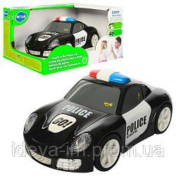 Полицейская машинка, 16,5см, ездит, звук,свет,рез.колеса,на бат-кев кор-ке,19,5-15,5-11см