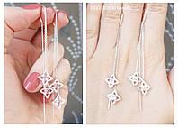 Сережки Протяжки зі срібла Арт. ЕЛ-2439, фото 1