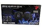 """Автомобильные динамики Megavox MCS-4543SR 10 см динамики 4"""" 200 Вт автозвук качественные колонки, фото 3"""