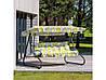Качель садовая Милано A080-12PB ГхДхВ(134х220х157), 300кг, 3х местная, раскладная