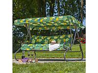 Качель садовая Милано G010-02PB ГхДхВ(134х220х157), 300кг, 3х местная, раскладная