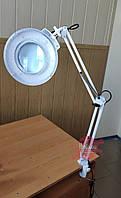 Светодиодная LED лампа-лупа на струбцине, 3,5 дптр, фото 1