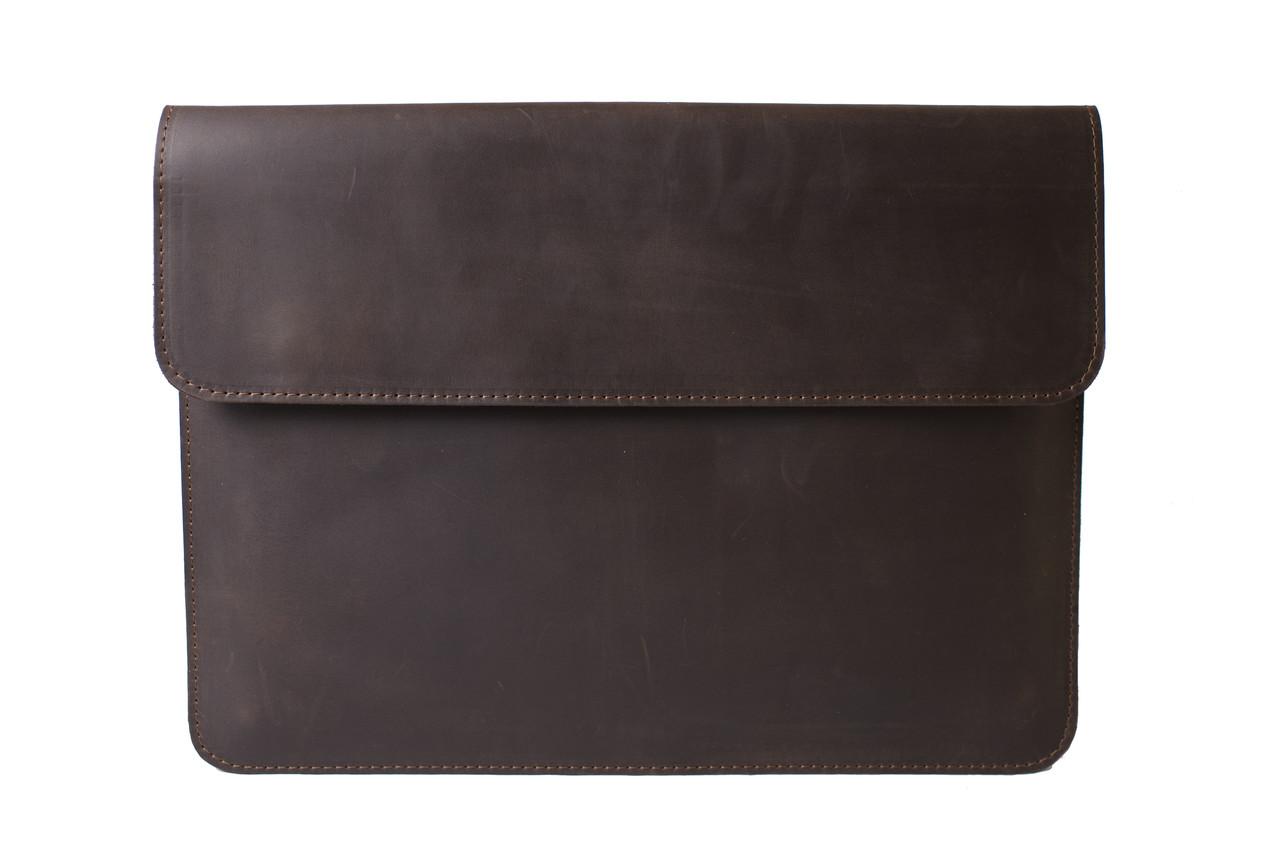 Стильный кожаный чехол для MacBook