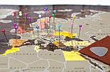 Шоколадная скретч карта мира 3-в-1 My Map Chocolate Edition ENG для любителей кофе и шоколада, фото 3