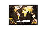 Шоколадная скретч карта мира 3-в-1 My Map Chocolate Edition ENG для любителей кофе и шоколада, фото 5