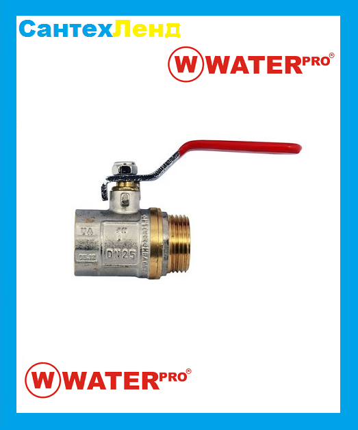 Кран Шаровой 1 Water Pro DN 25 PN 20 ГШР