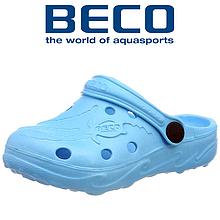 Тапочки сабо детские BECO 9084 66 бирюзовый