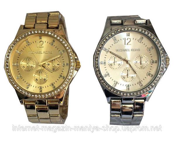 Модные Часы Michael Kors с камнями (большой циферблат)