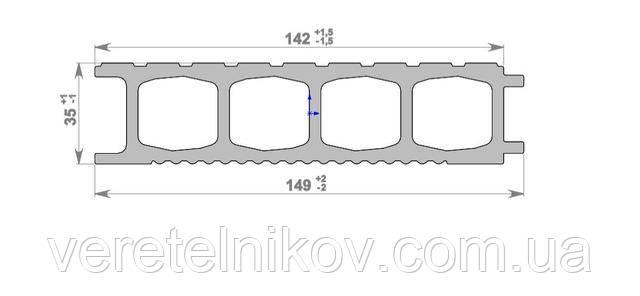 Террасная доска HOLZDORF Brush (Хольцдорф Браш) 149×35х3000 мм.