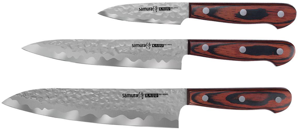 Набор из 3 предметов кухонных ножей Поварская тройка Samura KAIJU (SKJ-0220)