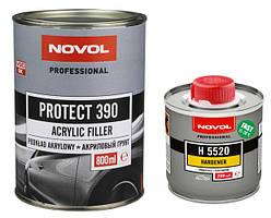 Акриловый грунт PROTECT 390 4+1 + отвердитель Н5520 (0.8л+0.2л) серый