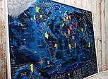 Морская скретч карта мира My Map Discovery edition ENG Увеличенные области Средиземного и Карибского морей, фото 6