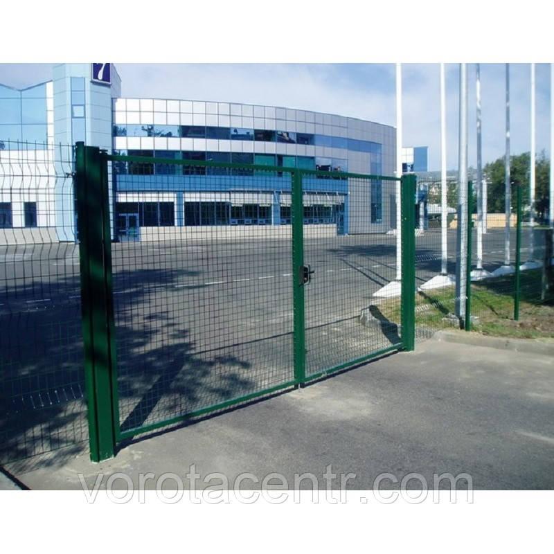 Ворота из сварной сетки сполимерным покрытием для 3Д заборов 3 м х 2 м
