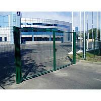 Ворота из сварной сетки сполимерным покрытием для 3Д заборов 3 м х 2 м, фото 1