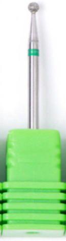 Насадка алмазная шарик, средняя насечка зеленый 2,3 мм