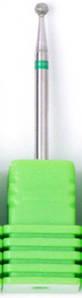 Насадка алмазна кулька, середня насічка зелений 2,3 мм