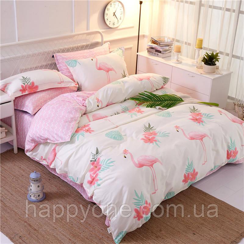 Комплект постельного белья Flamingo Big (двуспальный-евро)