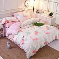 Комплект постельного белья Flamingo Big (двуспальный-евро), фото 1