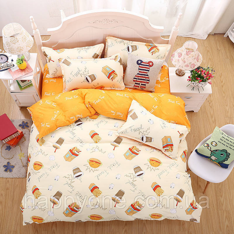 Комплект постельного белья Fast Food (двуспальный-евро)