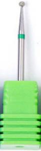 Насадка алмазна кулька, середня насічка зелений 1,8 мм