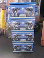 Пластиковый комод с рисунком Дельфины