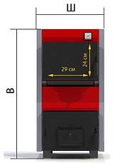 Твердотопливный котел ProTech ТТП-18 с Эконом (Econom) с плитой, фото 3