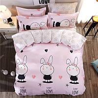 Комплект постельного белья Rabbit Love (двуспальный-евро), фото 1