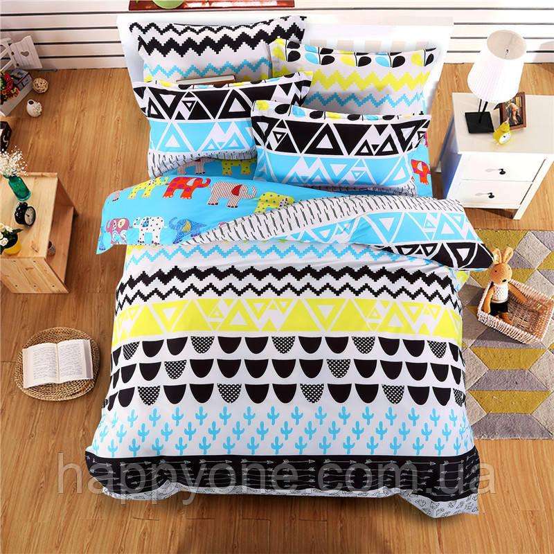 Комплект постельного белья Elephants (двуспальный-евро)