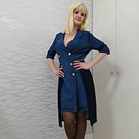 Платье джинс с плиссированной юбкой, фото 1