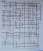 Металлизированные гибкие ленты 3 D рогожка на липкой основе- золото