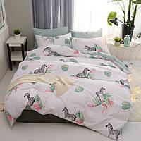 Комплект постельного белья Zebra and Flamingo (двуспальный-евро), фото 1