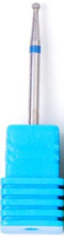 Насадка алмазная шарик, средняя насечка синяя 1,8 мм