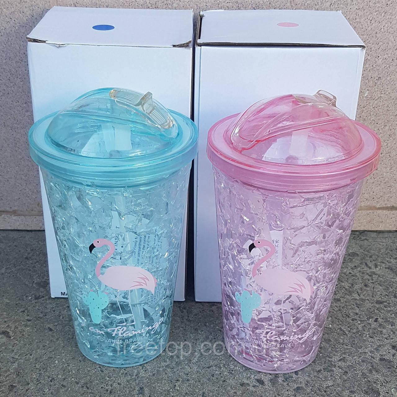 Термочашку Ice cup Flamingo 450 мл (Фламінго)