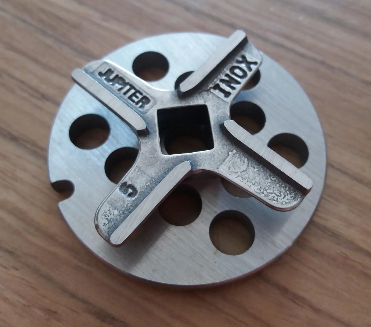 Комплект нож и решетка (крупная)  для мясорубки Bosch Champion
