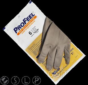 Перчатки ProFeel MICRO хирургические латексные, тонкие, неопудренные, коричневого цвета
