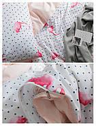 """Комплект постільної білизни """"Фламінго з горошком"""" (двоспальний євро), фото 8"""