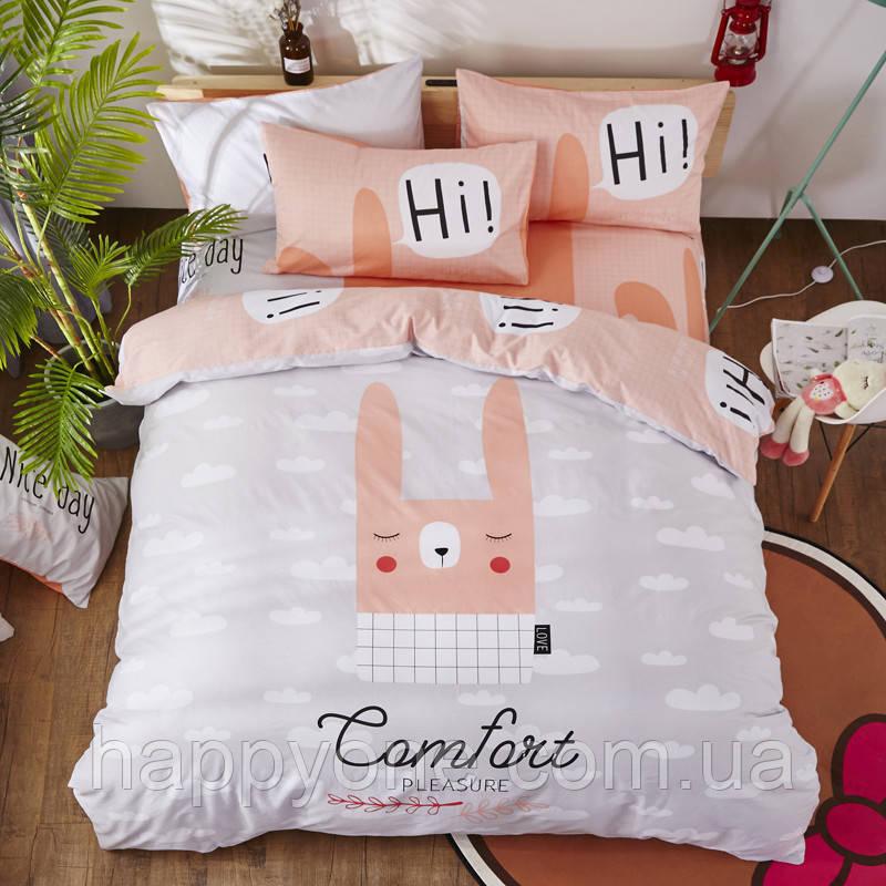 """Комплект постельного белья """"Кролик"""" (двуспальный-евро)"""