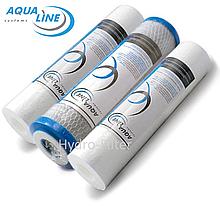 Комплект картриджів Aqualine 1-2-3 для фільтра зворотного осмосу