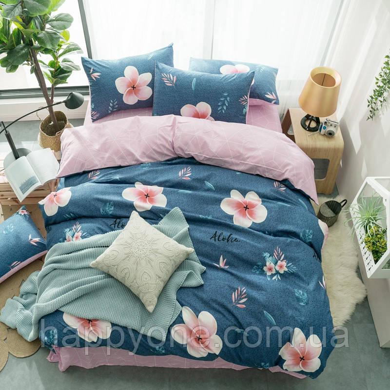 """Комплект постельного белья """"Цветок"""" (двуспальный-евро)"""