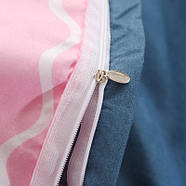 """Комплект постельного белья """"Розовый фламинго"""" с простынью на резинке (двуспальный-евро), фото 3"""