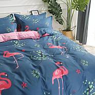 """Комплект постельного белья """"Розовый фламинго"""" с простынью на резинке (двуспальный-евро), фото 6"""