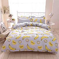"""Комплект постельного белья """"Банан"""" с простынью на резинке (двуспальный-евро), фото 1"""